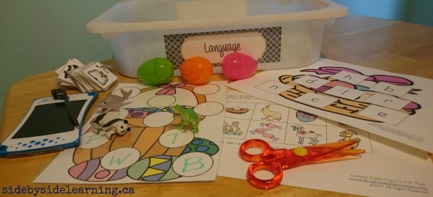 Language Easter Hunt Letter Association Tot School Scissors