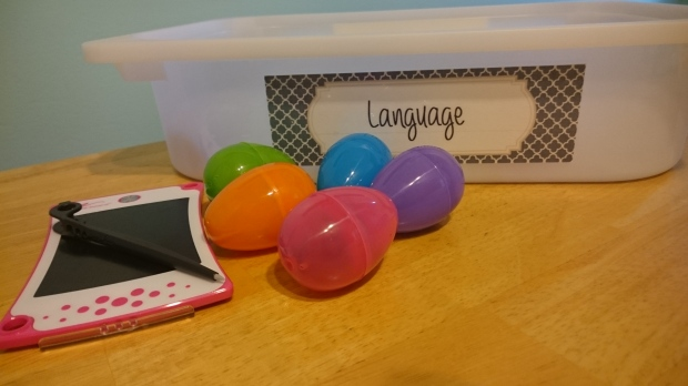 Language Egg Hunt Easter Tot School