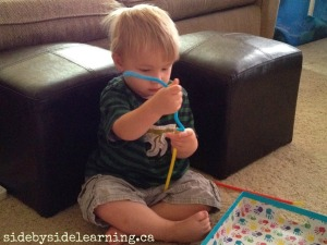 Fine Motor Pipe Cleaners and Straws