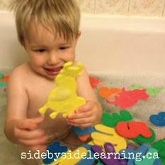 Foam Letter Bath
