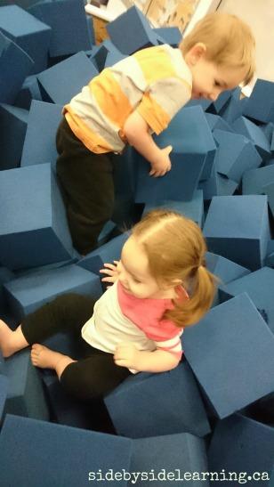 Foam Pit Gymnastics