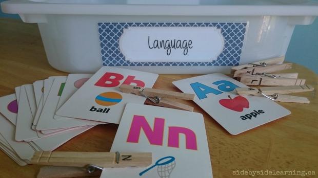 Languge - Letter Matching