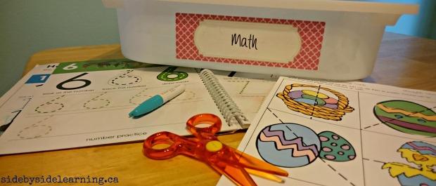 Math Scissors Numbers Fine Motor Tot School
