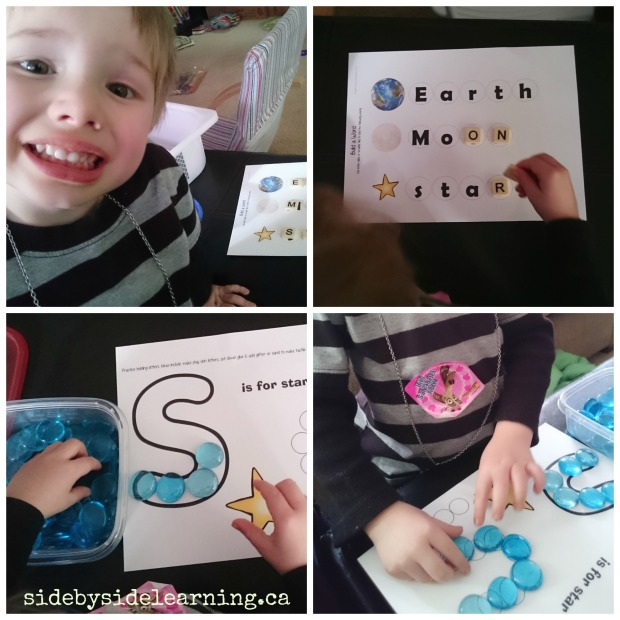 Space Letter S and Spelling with Bananagrams