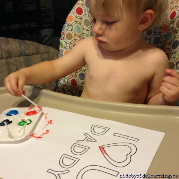 Fathers Day Fine Motor Painting
