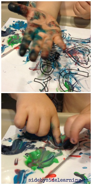 Messy Paint Play