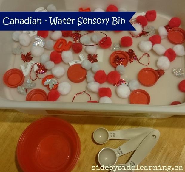 Canadian Water Sensory Bin