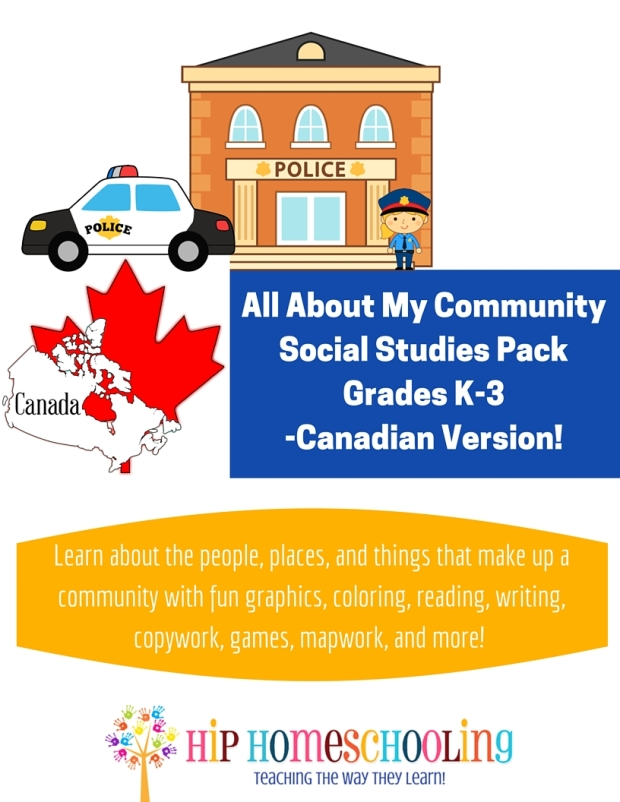 Social Studies Pack Grades K-3 Canadian Version