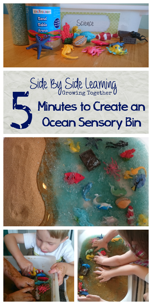 5 Minutes to Create an Ocean Sensory Bin