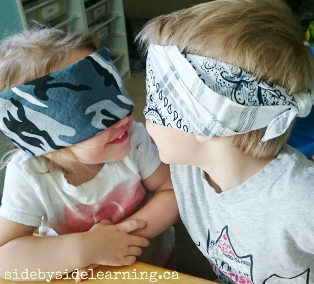Fall Blindfolded Toddlers