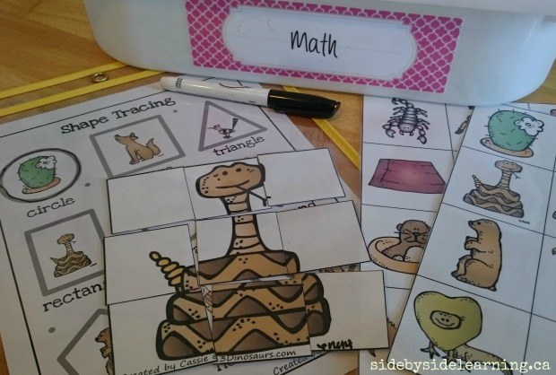 Math - Shapes, Puzzles, Matching